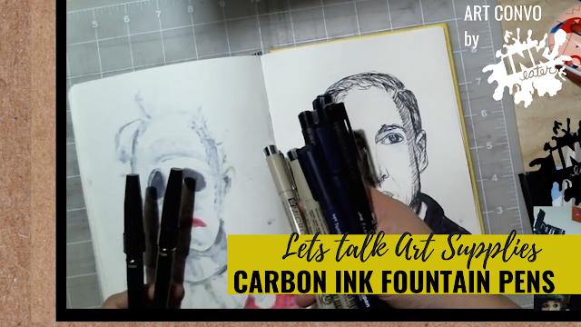 Review of Carbon Platinum Ink - Lets Talk Art Supplies