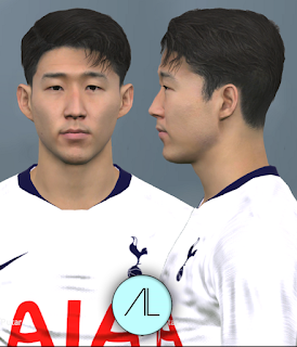 Face can be used for Pro Evolution Soccer  Update, PES 2017 Faces Son Heung-min by Alief