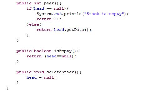 Java-Latte: Linked List implementation of Stack Data