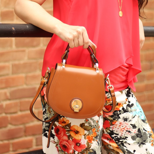 Popjulia Brown Shoulder Bag