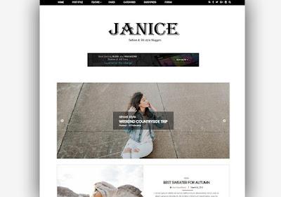 Janice Blogger Template Responsive Seo Optimized