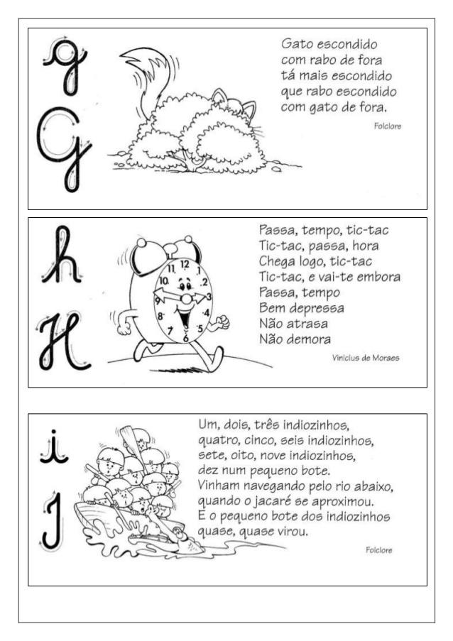 Fichas De Leitura Com Pequenos Textos De Alfabetização Para Imprimir