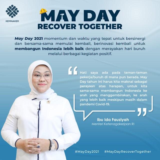 May Day, Menaker Ajak Serikat Pekerja dan Pengusaha Perkuat Kebersamaan