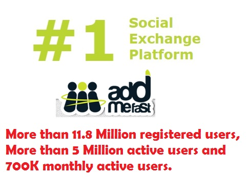 AddMeFast - the #1 Social Exchange Platform