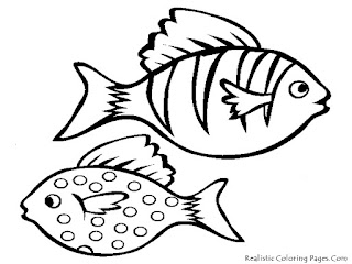 Realistic Aquarium Fish Kids Coloring Pages