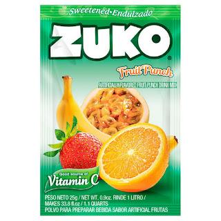 Bột Pha Nước Trái Cây Zuko Fruit Punch Flavor Drink Mix Xách Tay Mỹ