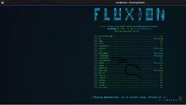 How to install and run Fluxion in Kali Linux
