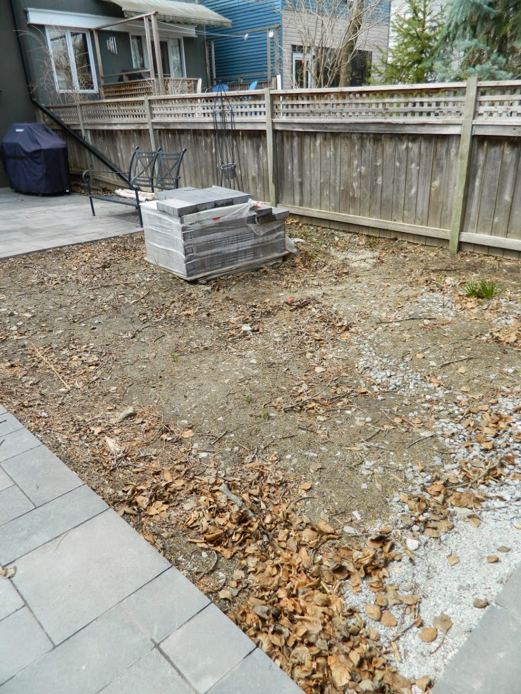 Greektown Toronto garden design before by Paul Jung Gardening Services