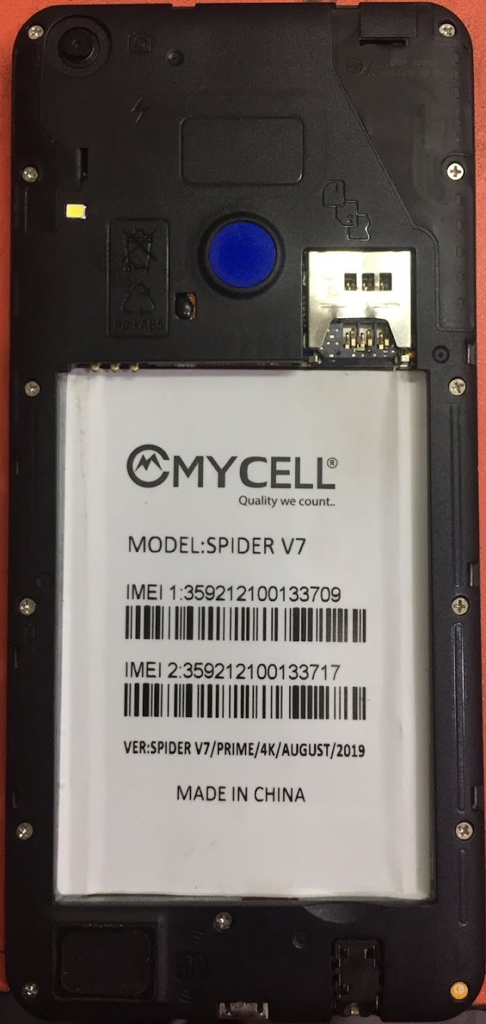 MYCELL SPIDER V7 FLASH FILE FIRMWARE STOCK ROM