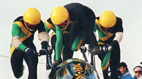 Jamaican Bobsleigh Team Calgary Olympics 1988