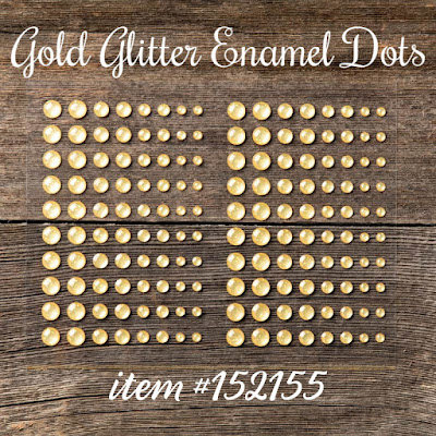 Gold Glitter Enamel Dots - Stampin' Up!'s Christmastime is Here Medley - item #152155