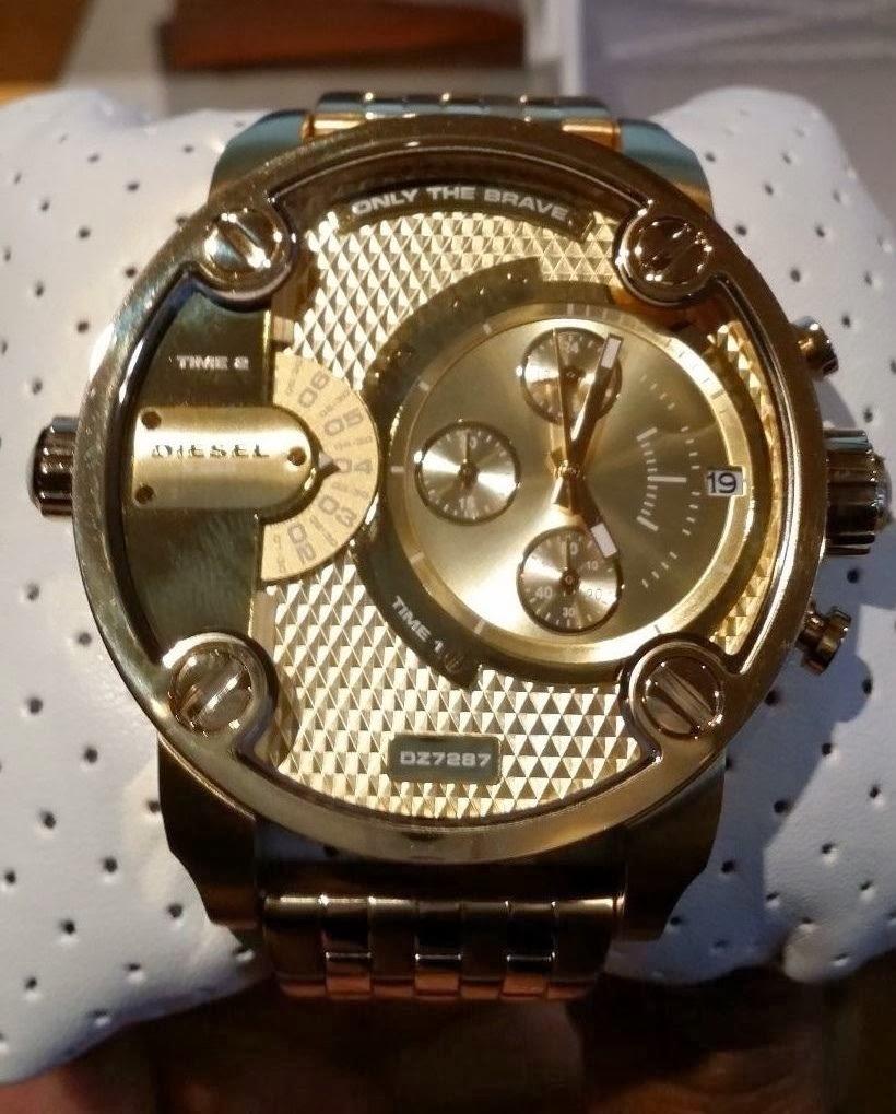 40354a2fa25 Relógios Importados  Relógio Diesel DZ7287 Dourado Masculino