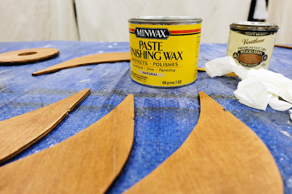 paste wax apply application wood stain