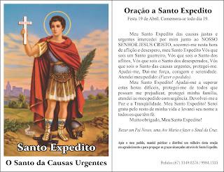 Image result for novena das rosas santo expedito santinhos