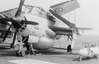 Fairey Gannet HMS Hermes flight deck
