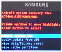 Android System Recovery - Samsung Galaxy Ace Style