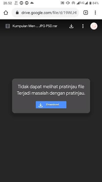Link download file di Google Drive