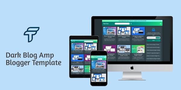 Free Download Dark Blog Amp Blogger Template