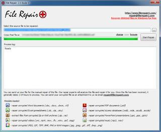 Cara Memperbaiki File Yang Rusak Menggunakan File Repair Funny Area