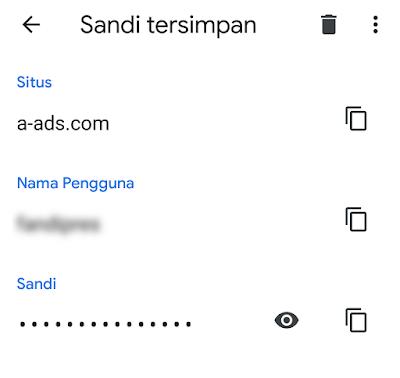 Melihat dan Menghapus Password Tersimpan di Chrome Android