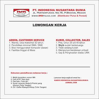 Admin dan 4 lowongan lainnya di PT Indonesia Nusantara Dunia