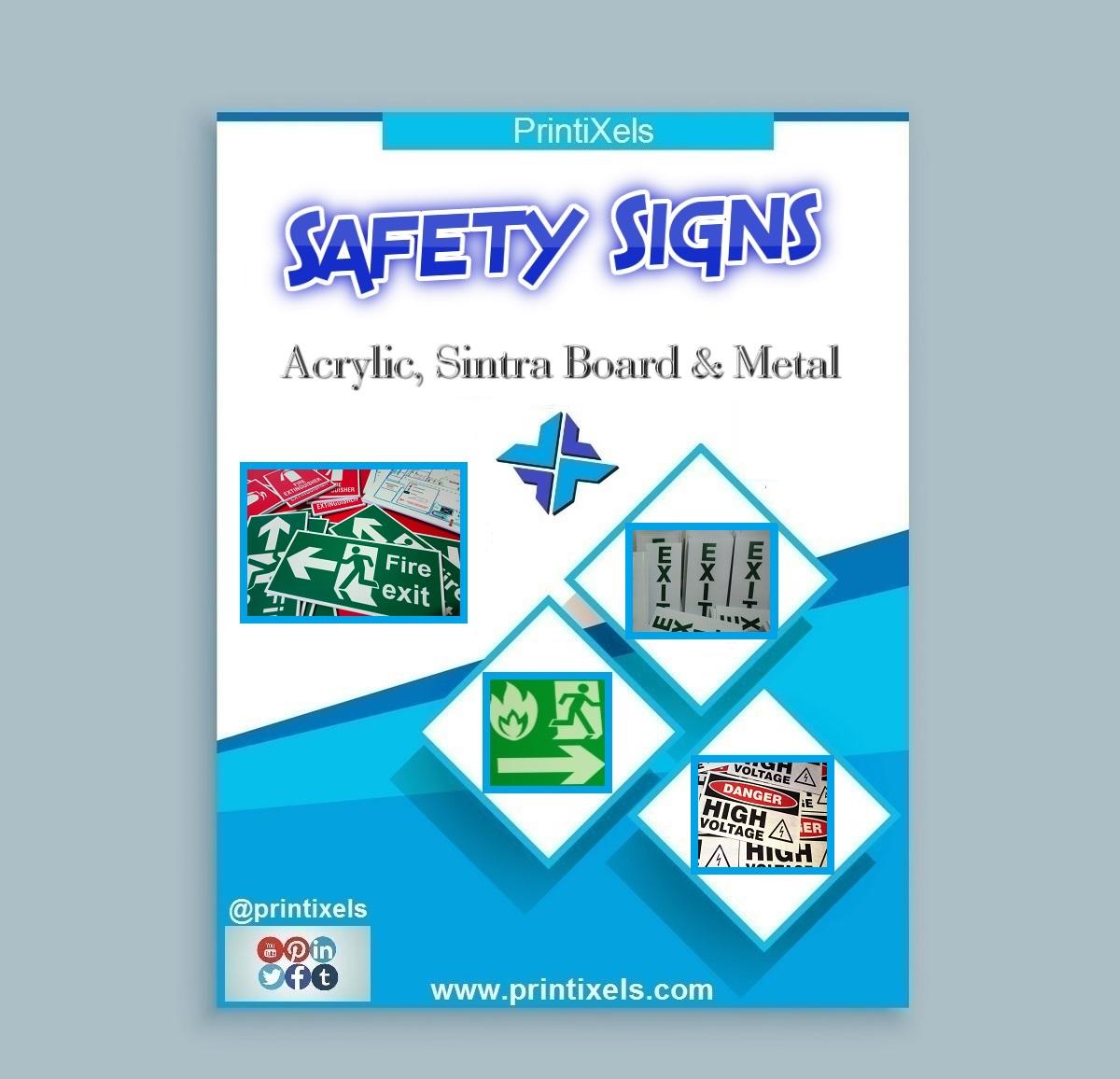 Safety Signs - Acrylic, Sintra Board & Metal