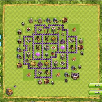 Base Clash of Clans Town Hall 7