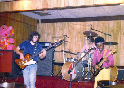 The band Prophecy on stage inside Orphan Annie's rock club... August 1979