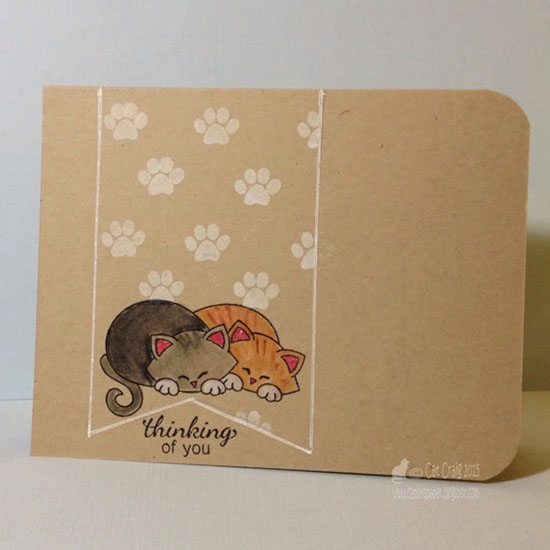 Thinking of you cats one layer Card by Cat Craig | Stamps by Newton's Nook Designs