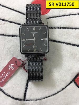đồng hồ nam SUNRISE V011750 màu đen cá tính nhất