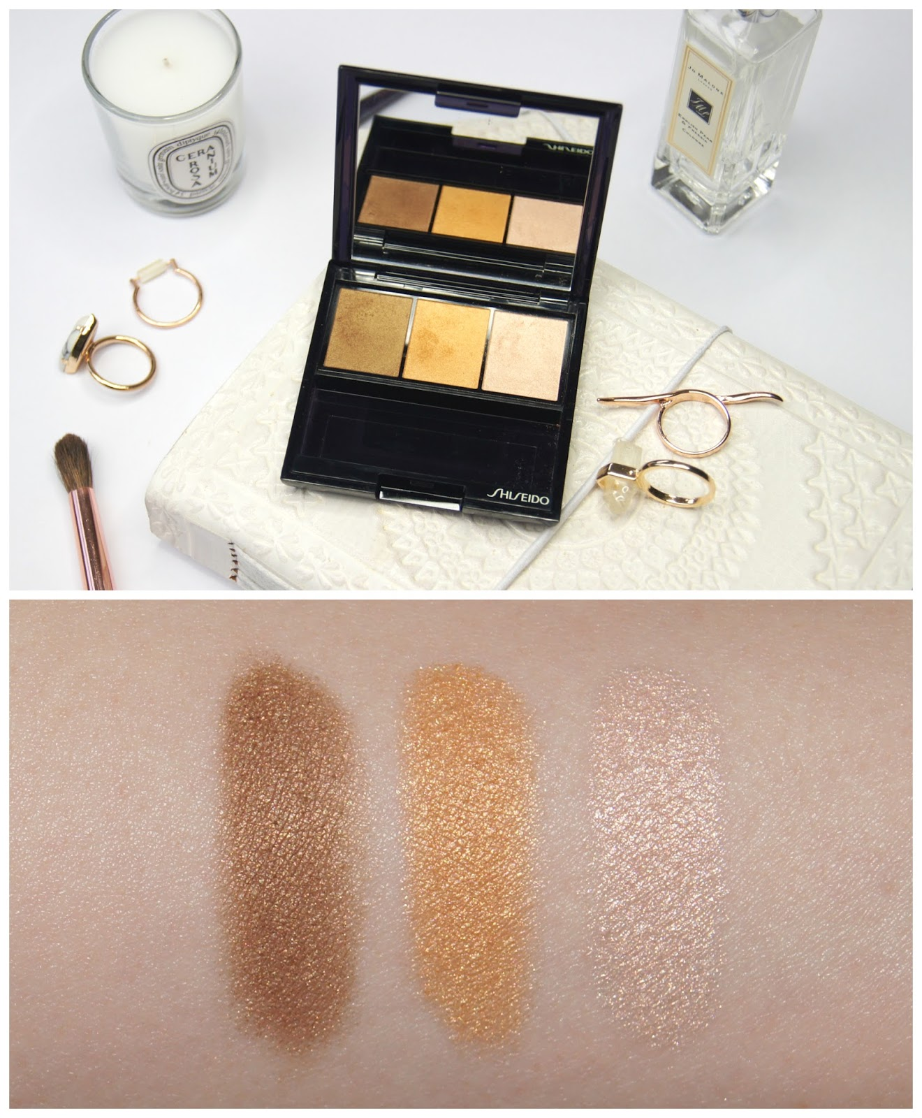 shiseido luminizing satin eye color trio br209 review swatches