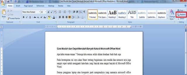 Ganti Banyak Kata di Microsoft Office Word