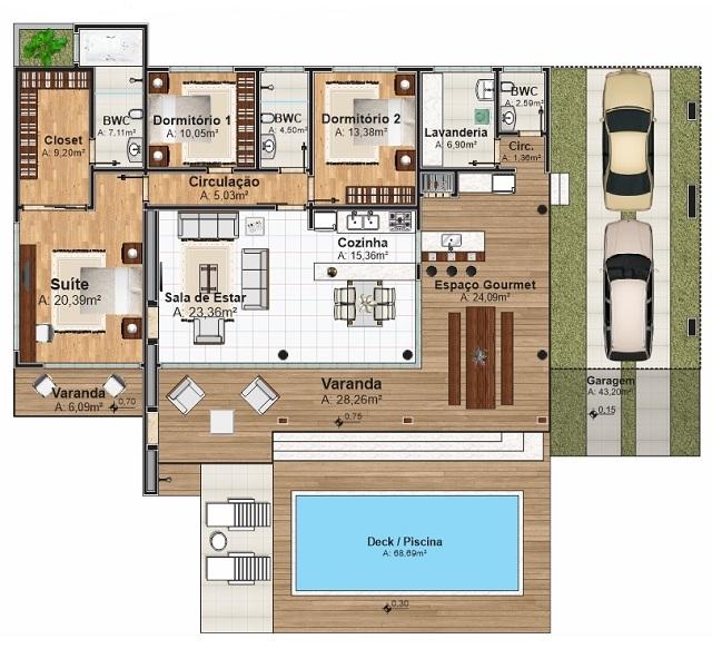 Plano De Casa De 238 M2 Planos De Casas Gratis Y
