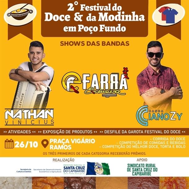 2º Festival do Doce e Modinha será realizado na Vila de Poço Fundo