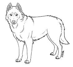 Siberian Husky Dog Coloring Pages
