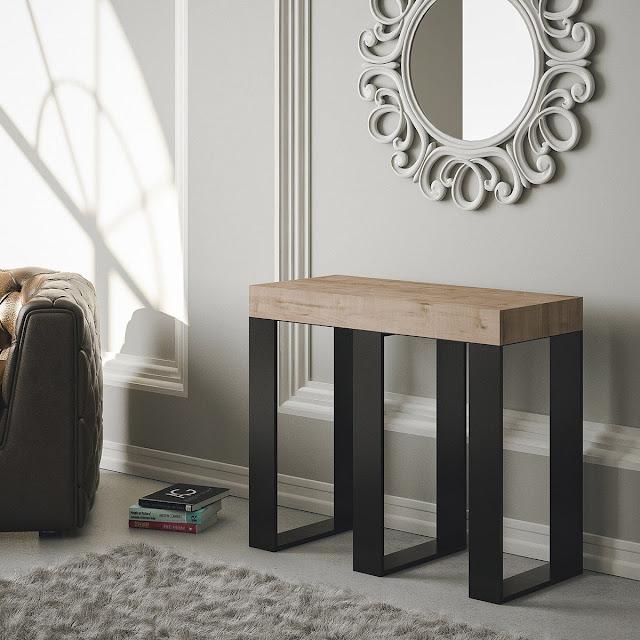 table console extensible pas cher, design et contemporaine en chêne naturel - 14 places - 3 mètres