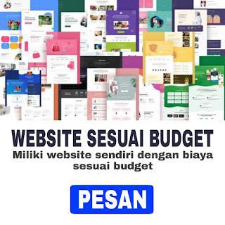 Jadi Website Sesuai Budget