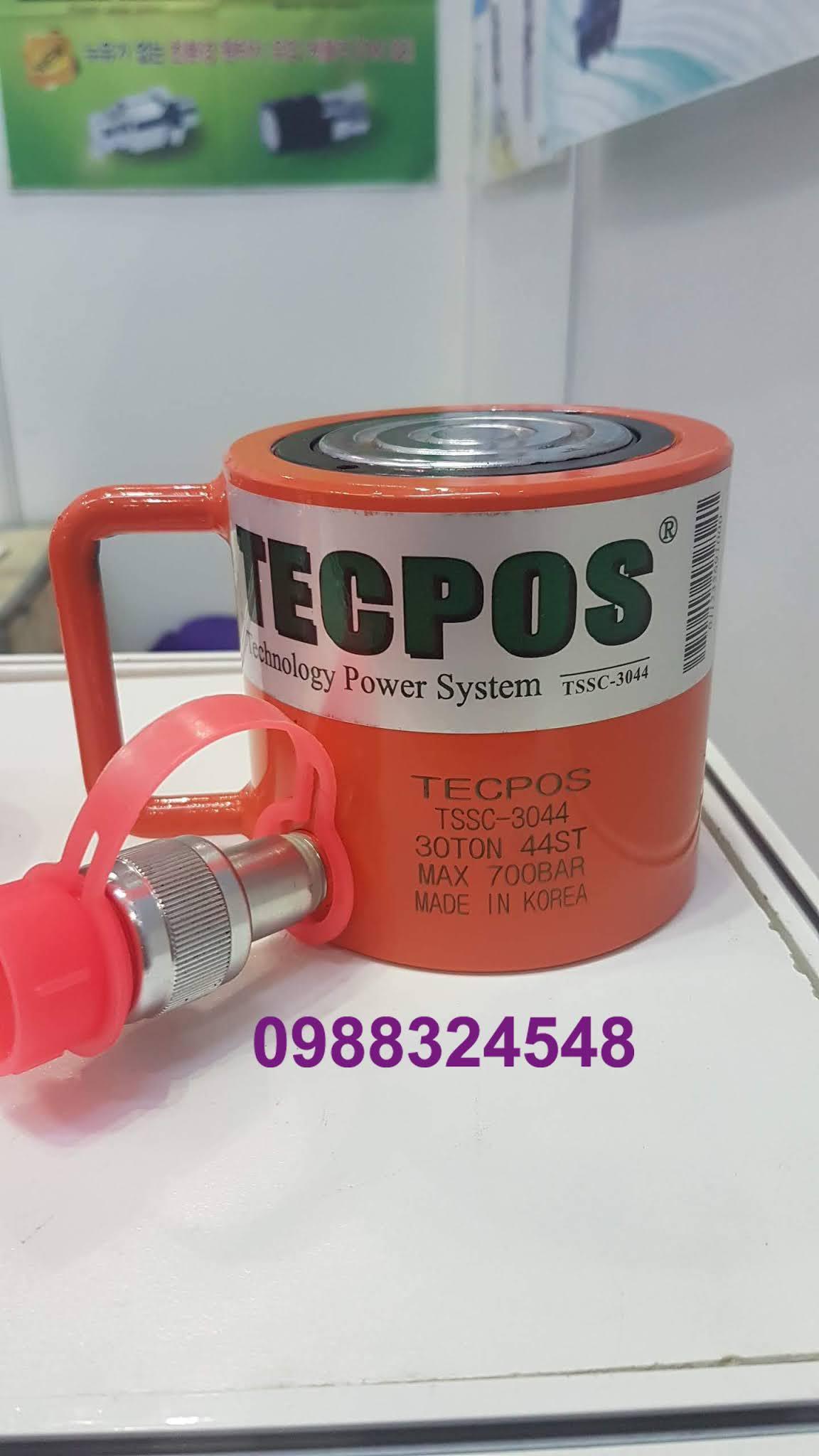 Kích thủy lực Tecpos 30 tấn TSSC-3044, hành trình 44mm