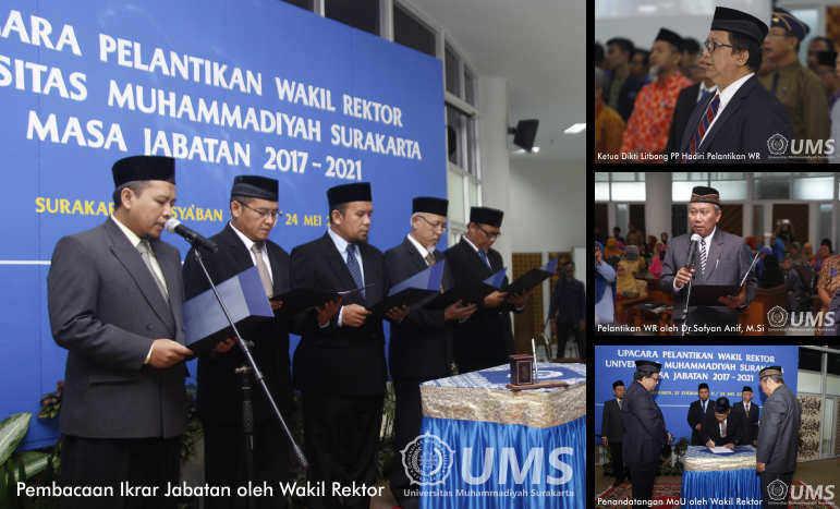 Wakil Rektor UMS Periode 2017/2021