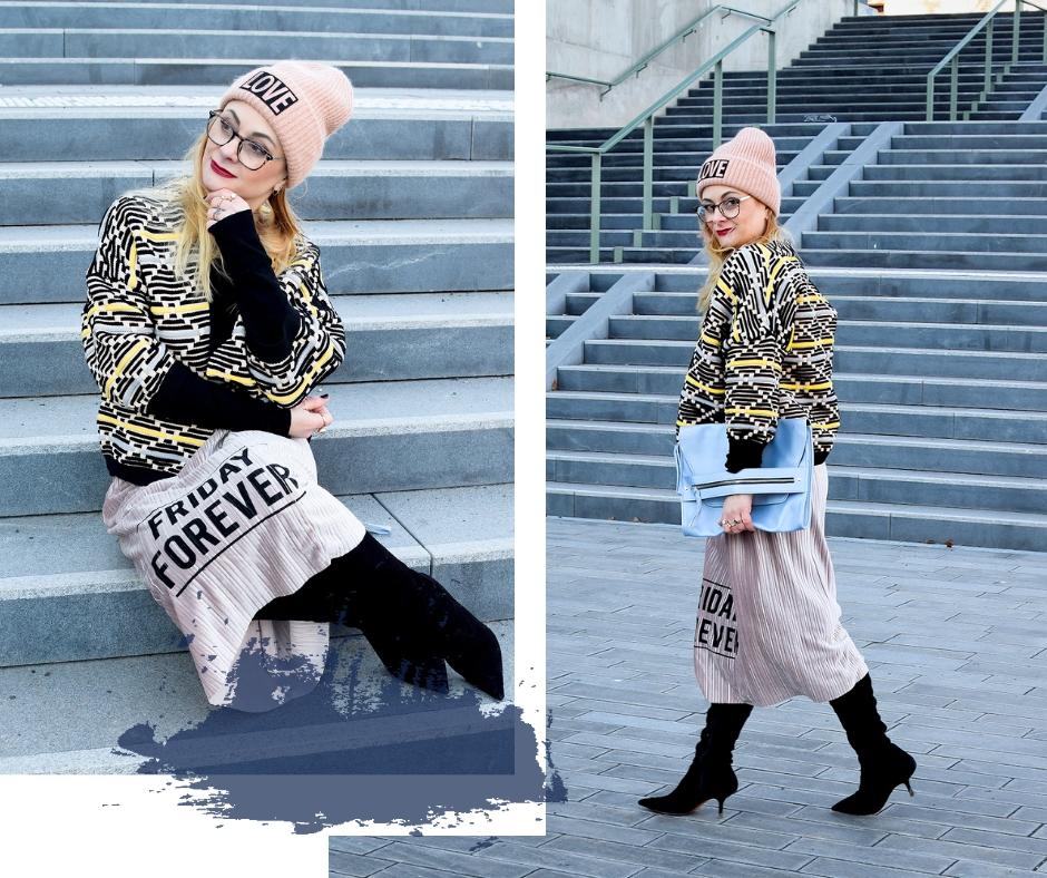 Outfit mit Rock Winter, Modeblog für Frauen ab 40