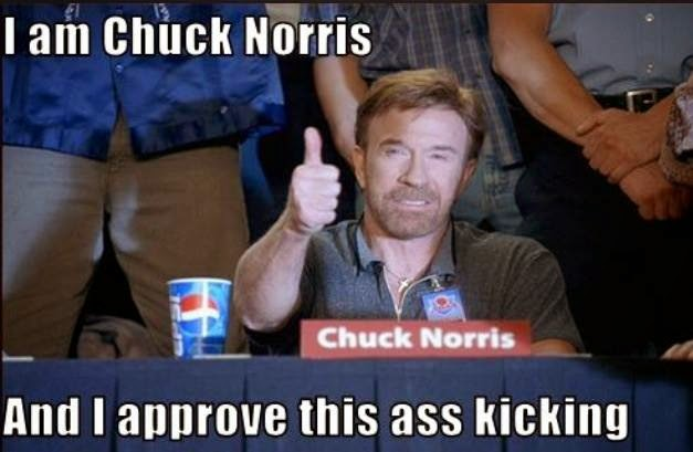 Chuck norris getting his ass kicked