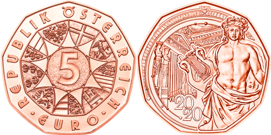 Austria 5 euro 2020 - New Year
