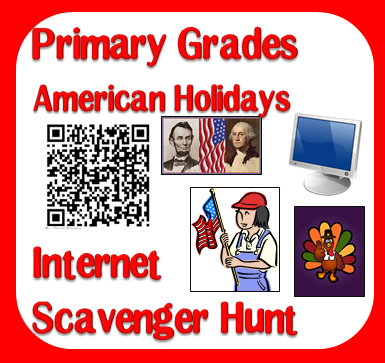 Free internet scavenger hunt over multiple American Holidays - from Raki's Rad Resources.