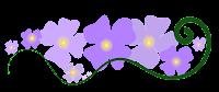 flor lilás em png