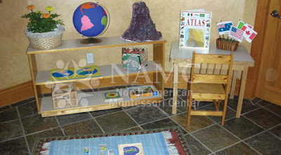 NAMC montessori how to create home prepared environment shelves science area