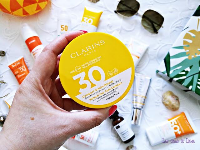 Compact Solaire Mineral SPF 30 Clarins Protección Solar Facial antiaging antienvejecimiento sunprotect beauty salud belleza antiedad manchas
