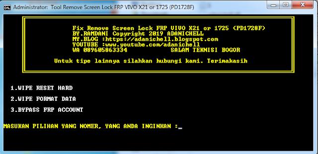 Cara Unlock Lupa Pola/Lupa PIN Vivo X21/1725 (PD1728F)