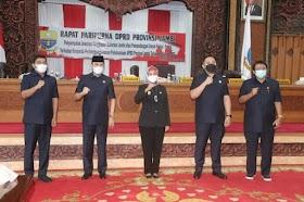 PJ Gubernur Jambi Hadiri Paripurna Tanggapan Pemerintah Atas pandangan umum fraksi DPRD