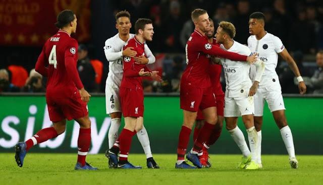 3 Penyebab Kekalahan Liverpool Kontra Paris Saint-Germain