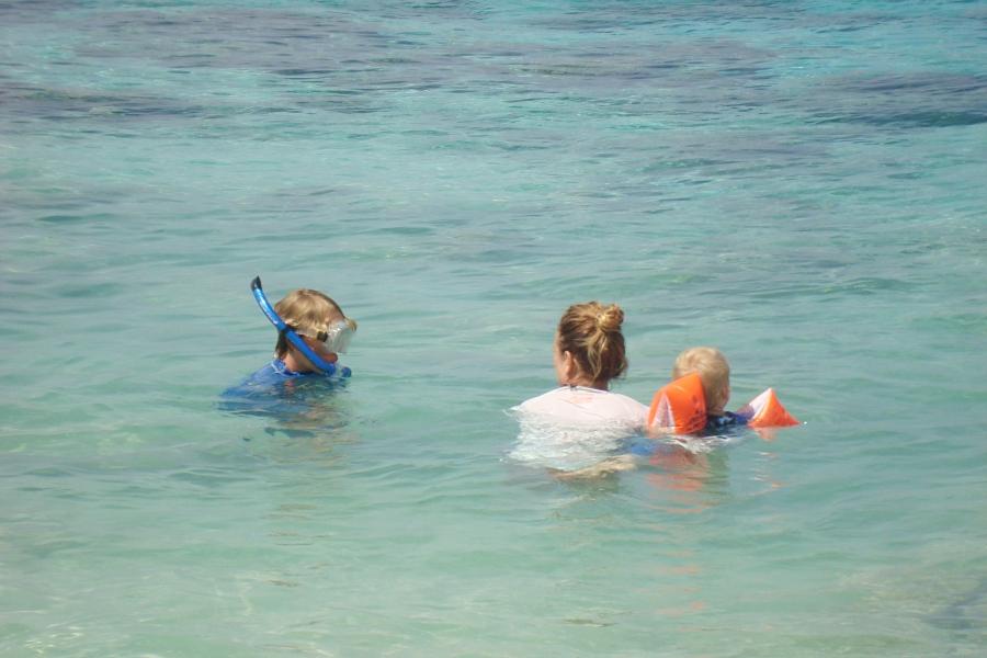엄마와 바다수영